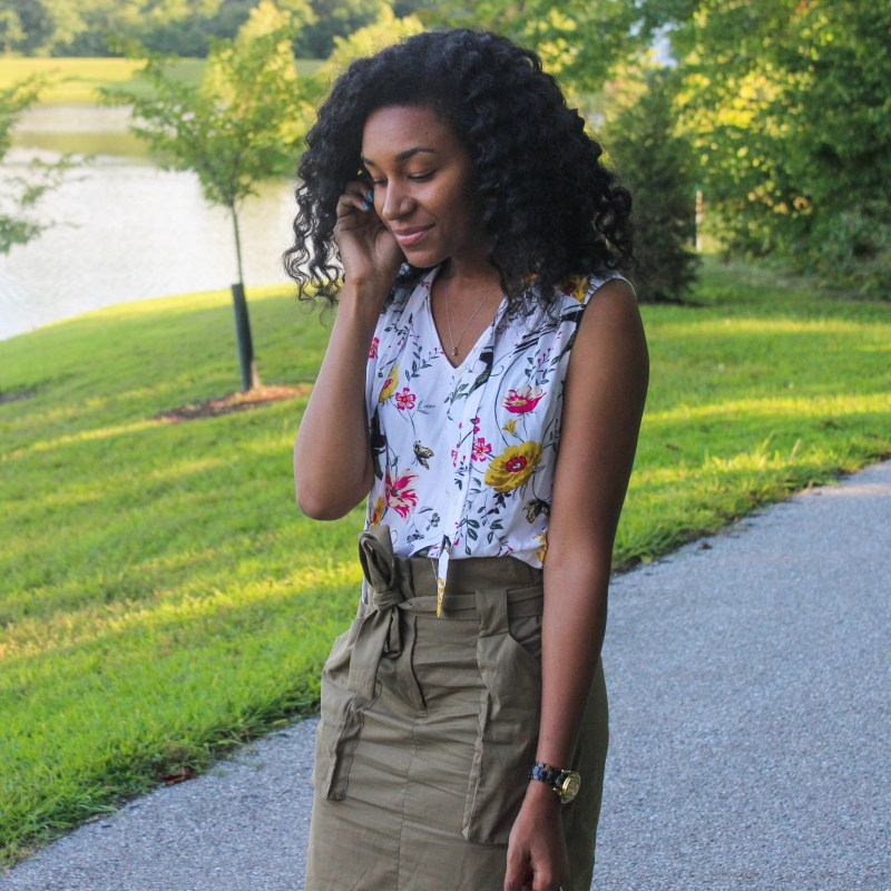 Old Navy Top with Utility Skirt-2165