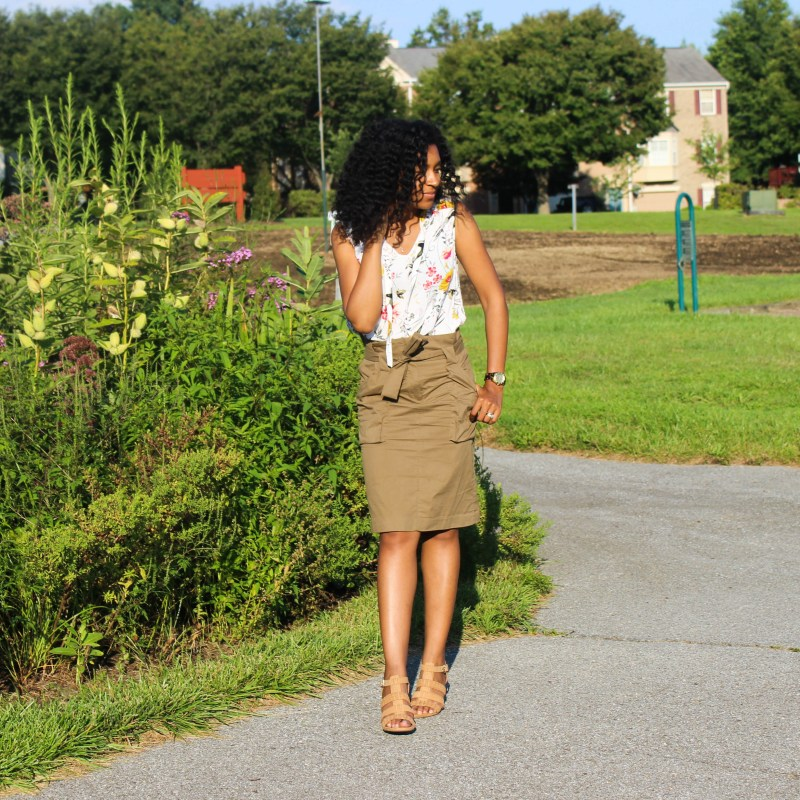 Old Navy Top with Utility Skirt-2186