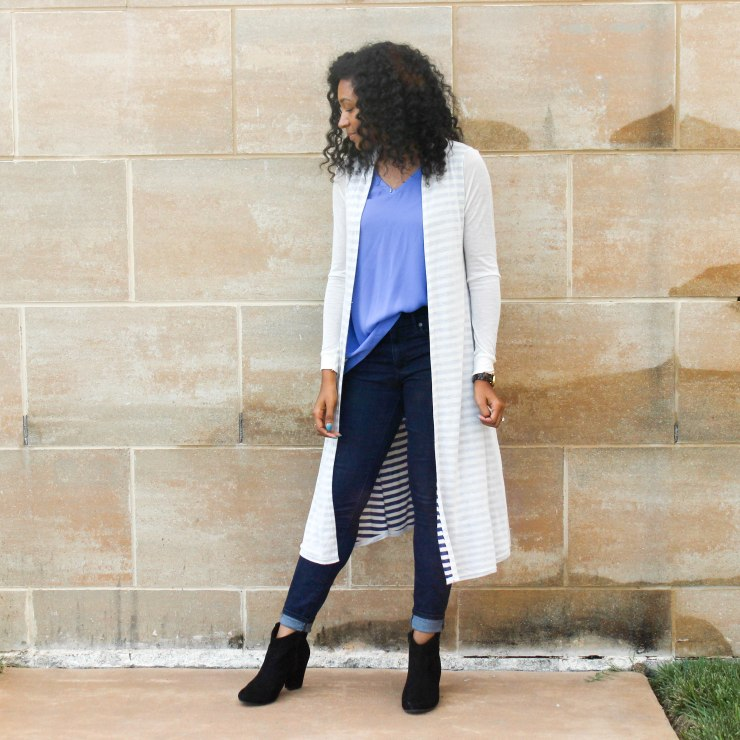 Long Cardi with a Blue Tank-2-4