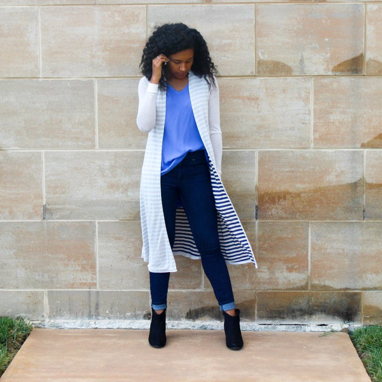 Long Cardi with a Blue Tank-2-6