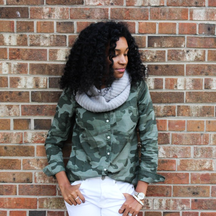 Army Shirt with White Pants-4427