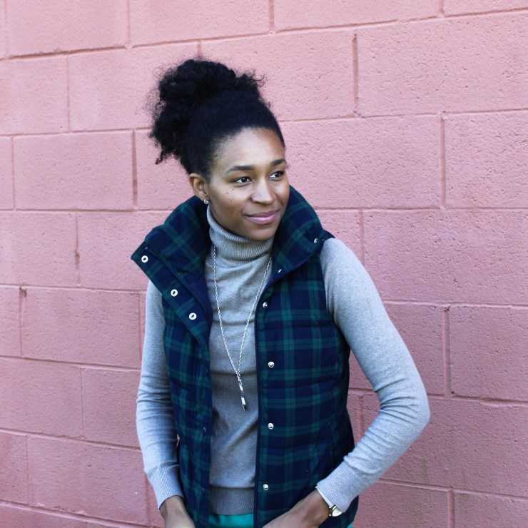 Old Navy Puffer Vest and J-Crew Wool Skirt-5673
