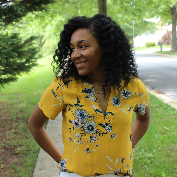 Old Navy Yellow Shirt with White AE Jeans-9890
