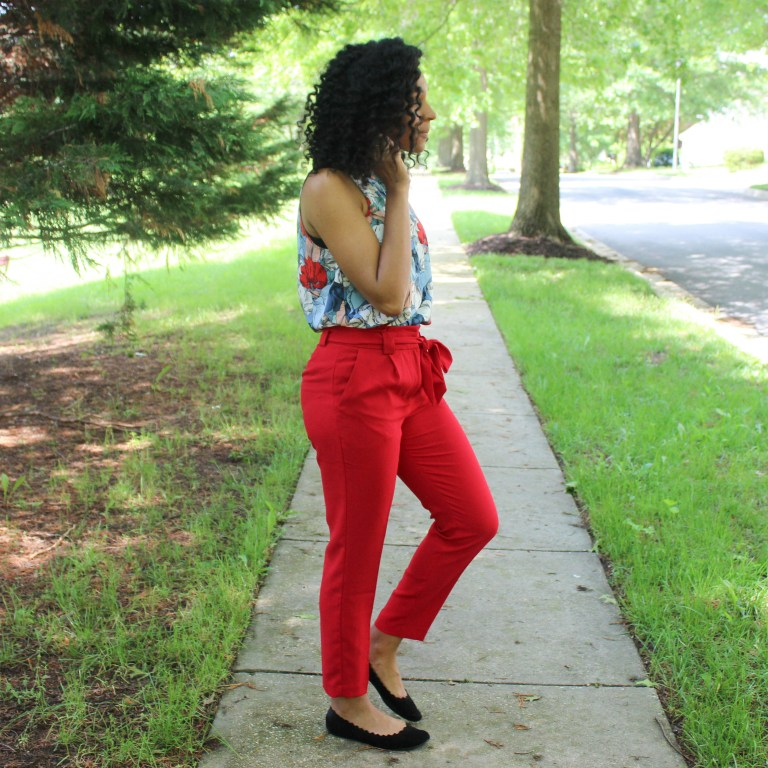 Red & Blue Shirt with Red Express Pants-9470