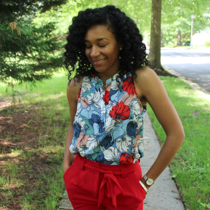 Red & Blue Shirt with Red Express Pants-9513