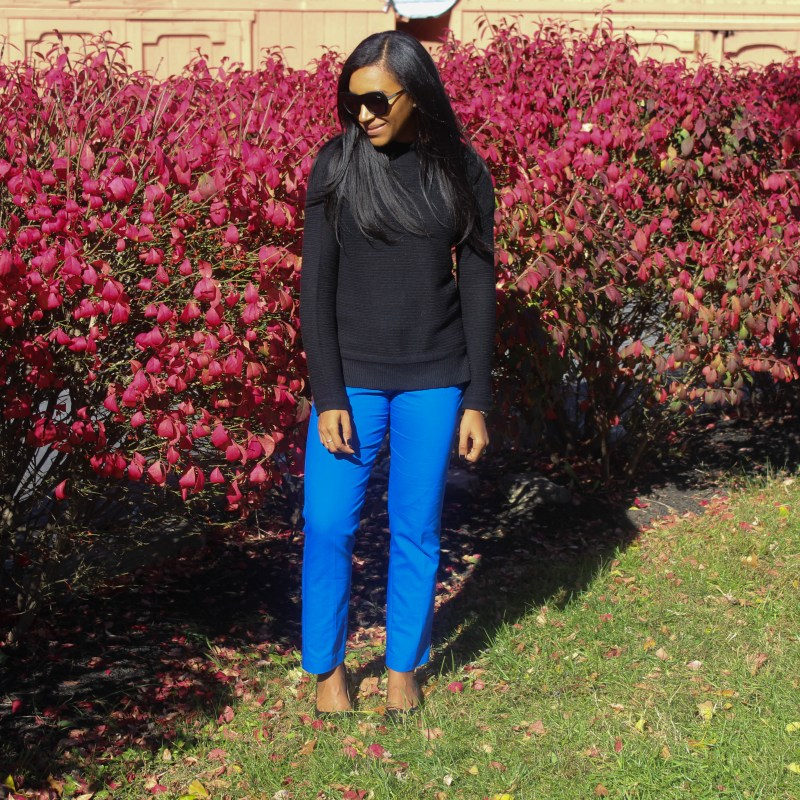 Black Old Navy Sweater Blue Express Pants-6