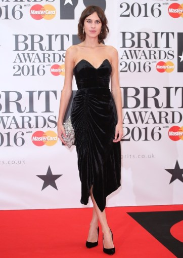 The Brit Awards 2016 (Brits) held at the O2 - Arrivals Featuring: Alexa Chung Where: London, United Kingdom When: 24 Feb 2016 Credit: Lia Toby/WENN.com