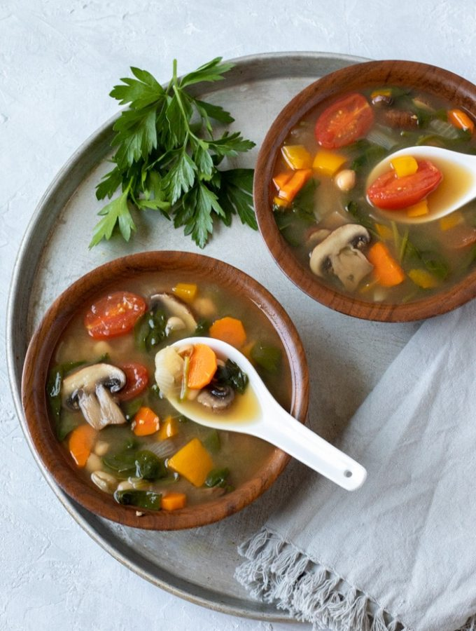 Vegetable-rich Pre-vacation Soup