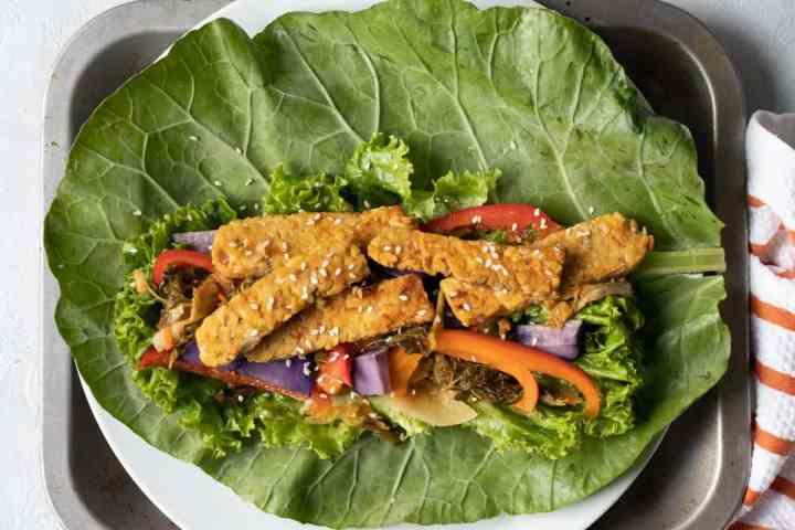 Kimchi Tempeh Wrap - My Quiet Kitchen