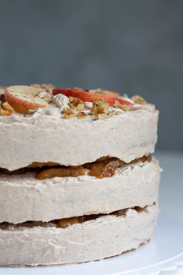 Apple Layer Cake With Bourbon Apple Filling and Cinnamon Buttercream