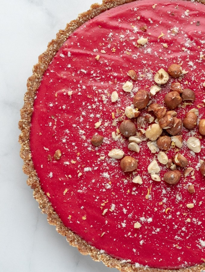 Cranberry and Citrus Tart with Hazelnut Crust
