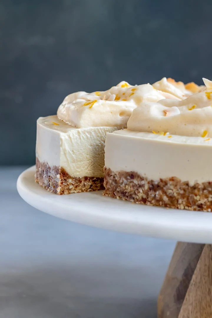 Vegan Meyer Lemon Cheesecake