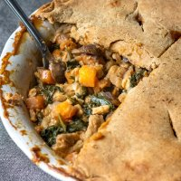 Sweet Potato and Kale Pot Pie (Oil Free/WFPB)