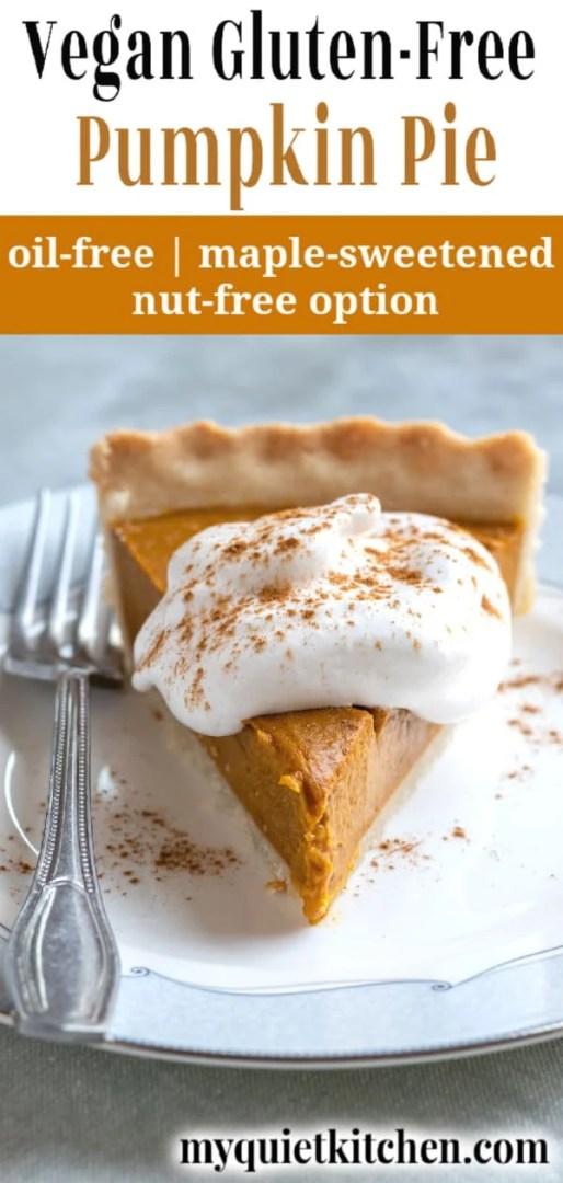 Vegan Pumpkin Pie pin for Pinterest