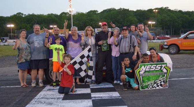 Arena Back in Victory Lane on North East Street Stock Tour