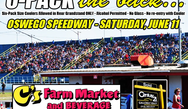 Oswego Speedway's Spring Championship to '6-Pack the Back' on June 11