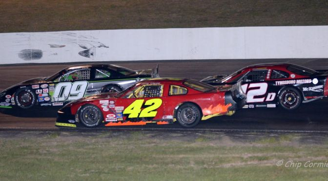 Davis, Griffith & Shaw Thrill Claremont fans in a Classic Twin State 100 finish!!