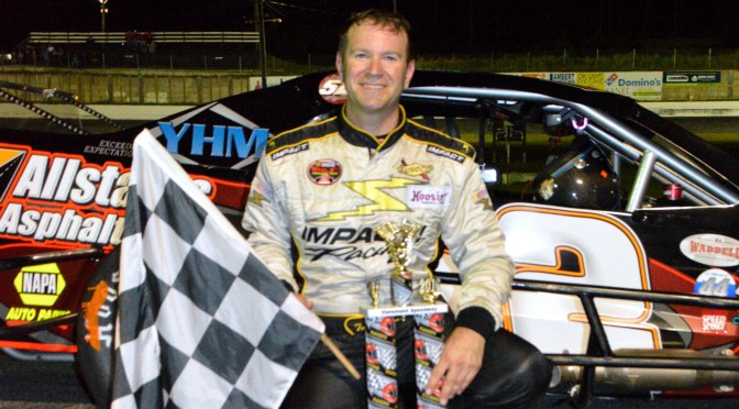 Todd Szegedy Wins the VMRS Feature at Claremont NH Speedway