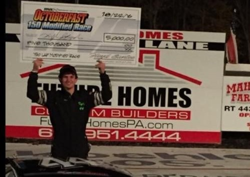 YOUNG KYLE STROHL RUNS TO IMPRESSIVE MAHONING VALLEY SPEEDWAY VICTORY IN OCTOBERFAST 150