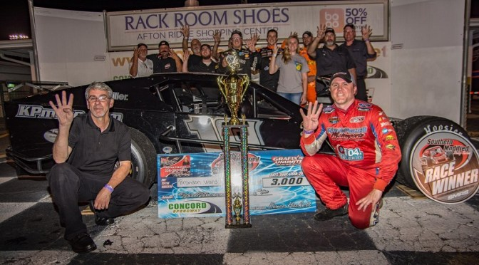 BRANDON WARD GETS FOURTH SOUTHERN MODIFIED RACING SERIES WIN OF YEAR AT CONCORD
