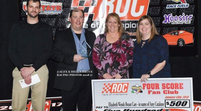 AMY CATALANO RECEIVES FIRST EVER FOAR SCORE RACE OF CHAMPIONS PERSEVEREANCE AWARD
