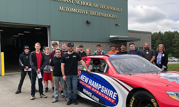 NASCAR Xfinity Series Driver Ryan Truex Visits New Hampshire Students and Races Go Karts With Fans