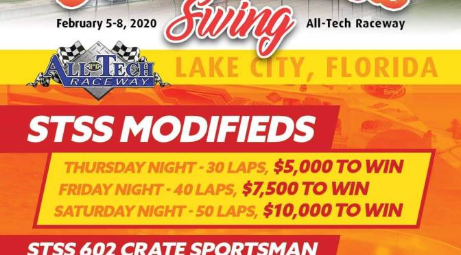 STSS ANNOUNCES 2020 'SUNSHINE SWING' AT ALL-TECH RACEWAY IN FLORIDA