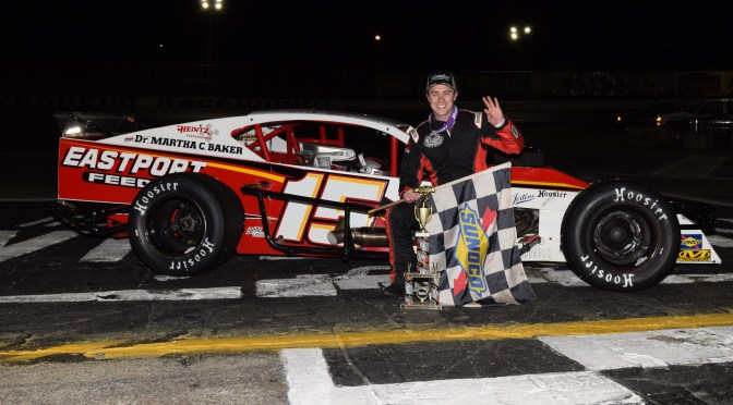 KYLE SOPER THREE FOR FOUR IN RIVERHEAD RACEWAY NASCAR MODIFIED RANKS AFTER 50-LAP WIN SATURDAY NIGHT