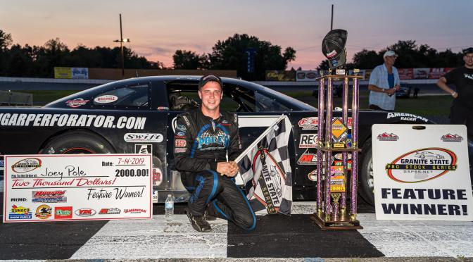 "Hudson's Own Joey ""Pole"" goes to GSPSS Victory Lane At Hudson Speedway"