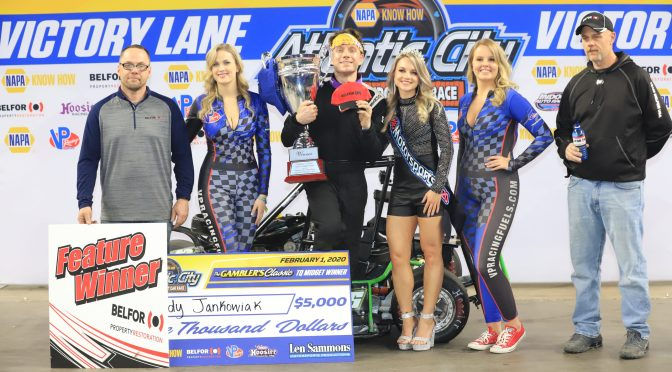 JANKOWIAK WINS SECOND STRAIGHT GAMBLER'S CLASSIC INDOOR RACE AT AC'S BOARDWALK HALL