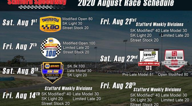 Stafford Speedway Announces Updated August Schedule