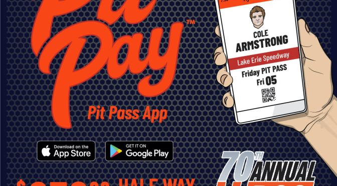PIT PAY APP TO OFFER HALFWAY BONUS TO LEADER OF LAP 125 IN 70TH ANNUAL PLATINUM EDITION OF THE RACE OF CHAMPIONS 250