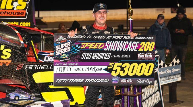 Mat Williamson Earns $53,000 Speed Showcase 200 Victory, Brian Krummel Crate 602 Star at Port Royal