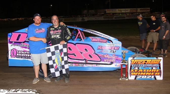 WARNER TOPS SUNOCO MODIFIEDS ON NIGHT OF FIRSTS AT UTICA-ROME