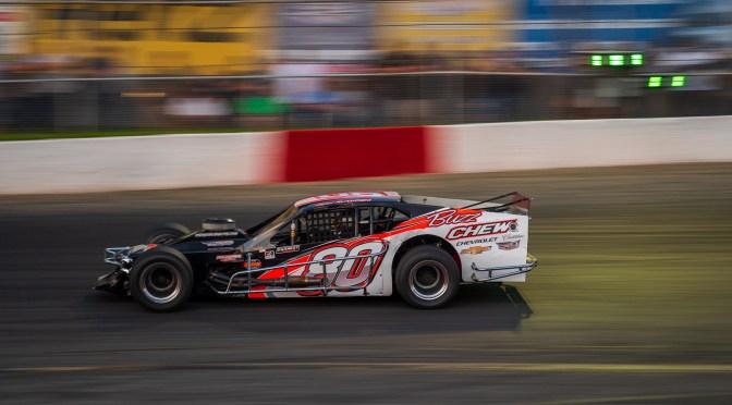 MICHAEL RUTKOSKI DELIVERS GRANDFATHER BUZZ CHEW FIRST NASCAR MODIFIED VICTORY AT RIVERHEAD RACEWAY SATURDAY NIGHT