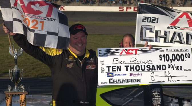 Rowe Wins Race and ACT Championship on Final Lap at Seekonk