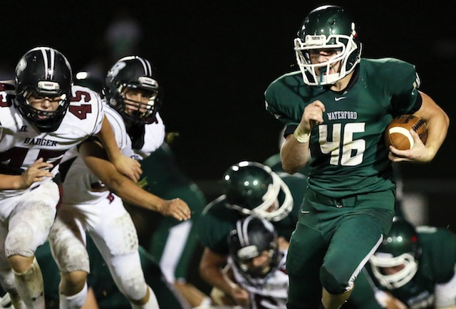 Anthony Miller (46) and a committee of running backs have helped open up Waterford's passing game. (Rick Benavides/Waterford Post)