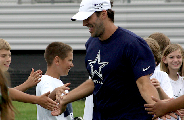 Last June at his annual Tony Romo Football Camp cb718e1fa