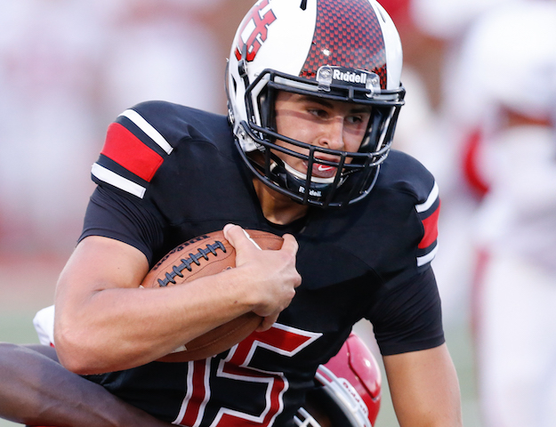 Along with throwing for more than 1,800 yards, Union Grove senior quarterback Matt Nelson ran for 15 touchdowns. He is considering Division 2 college football at St. Cloud or Minnesota State-Mankato next fall. (George Ciotti/SLN)