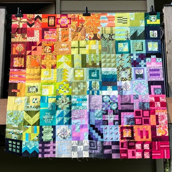 City Sampler: 100 Modern Quilt Blocks Quilt Top