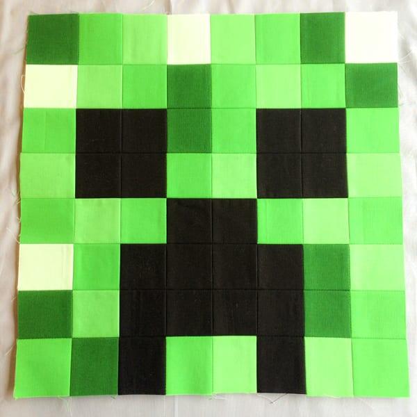Minecraft Quilt Block Creeper