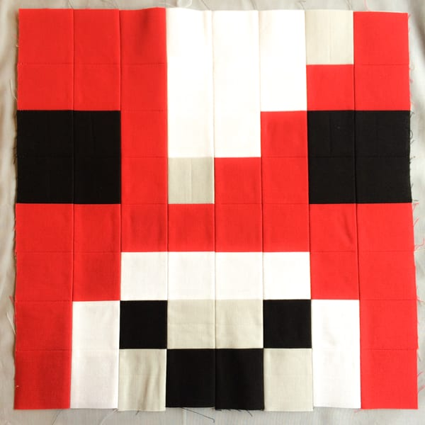 Minecraft Quilt Block Mooshroom