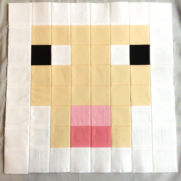 Minecraft Quilt Block Sheep