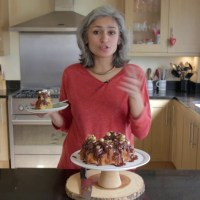 Easter egg vanilla and chocolate cake - Food with Chetna