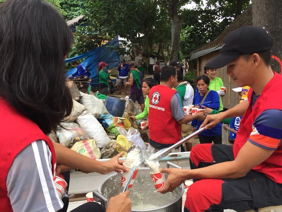 Red Cross Boracay Chapter Feeding Program.