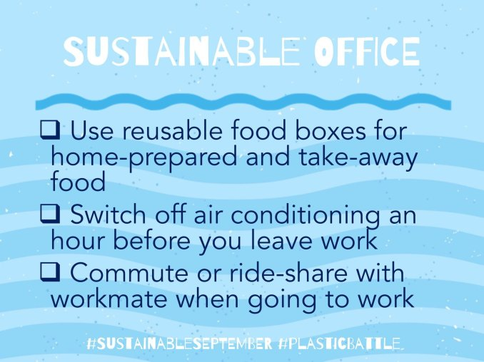 Sustainable September Office Tips
