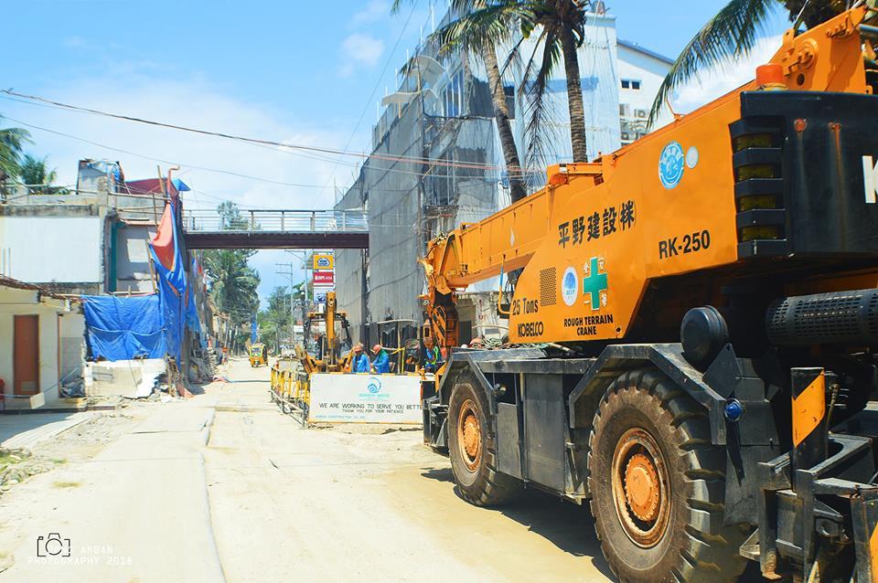 Boracay's New Roads during rehabilitation