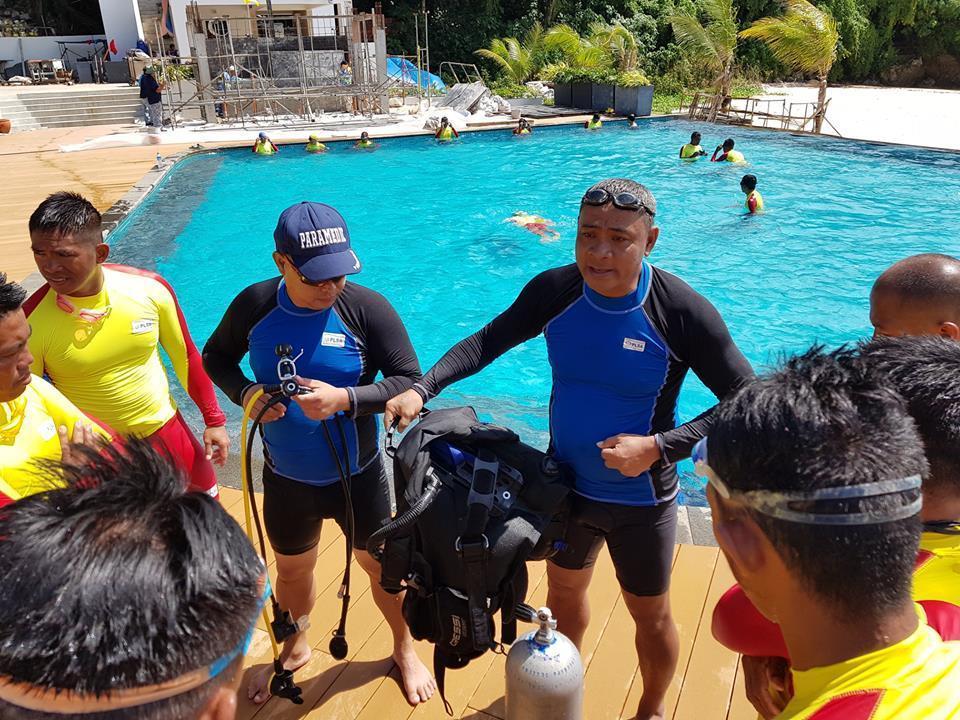 Boracay Lifeguards training at sunset