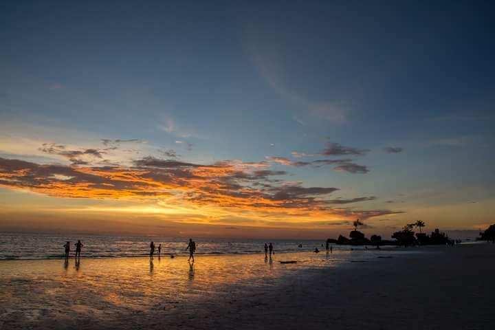 Boracay sunset during closure
