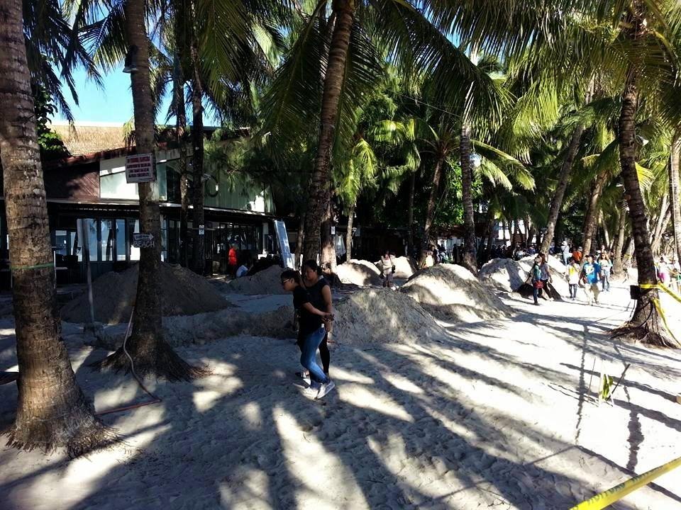 "Inside Boracay: Week 5 Work starts on the beachfront Drainage Pipe. Courtesy of Michelie ""Mitch"" Sampane"